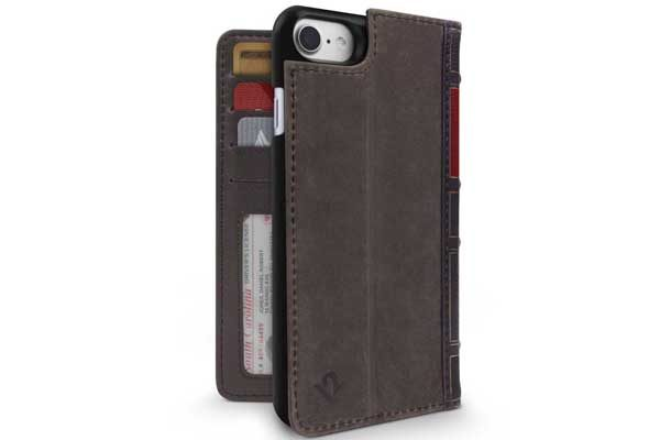 Twelve South BookBook - Vintage Leather Case + Wallet für iPhone 7, braun