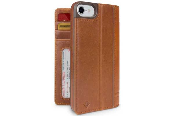 Twelve South Journal Case - Hochwertiges iPhone Hardcase aus echtem Leder für iPhone 6/6S/7, braun