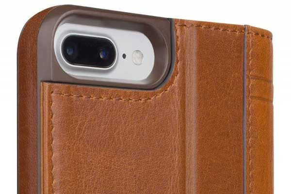 Twelve South Journal Case - Hochwertiges iPhone Hardcase aus echtem Leder für iPhone 7 Plus, braun