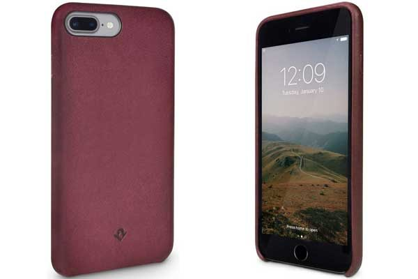 Twelve South Relaxed Leather Case - Hochwertiges Hardcase aus echtem Leder für iPhone 7 Plus, Marsala