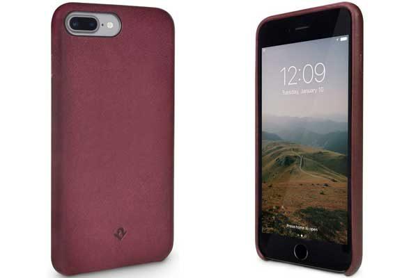 Twelve South Relaxed Leather Case - Hochwertiges Hardcase aus echtem Leder für iPhone 7 Plus, Marsala