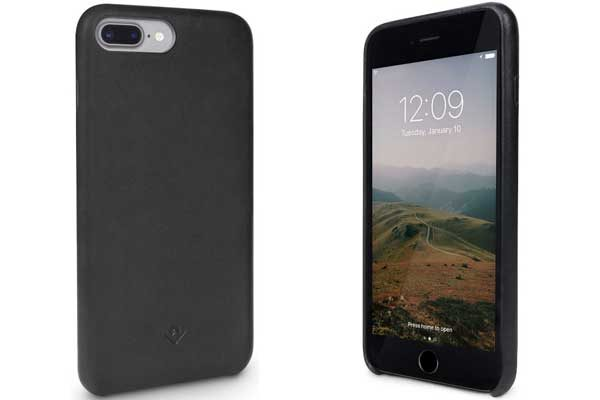 Twelve South Relaxed Leather Case - Hochwertiges Hardcase aus echtem Leder für iPhone 7 Plus, schwarz