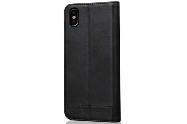 Bridge iPhone X Flip-Leder-Etui, schwarz