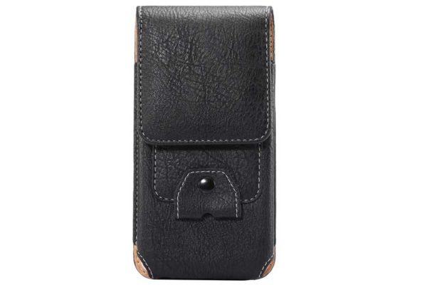 Bridge94 iPhone 6/6S/7 Gürtelholster-Tasche vertikal mit Kabelhalter, schwarz