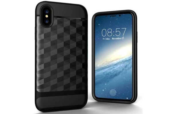 Bridge94 iPhone X Shockproof Backcover mit Displayschutz und Double Layer, schwarz