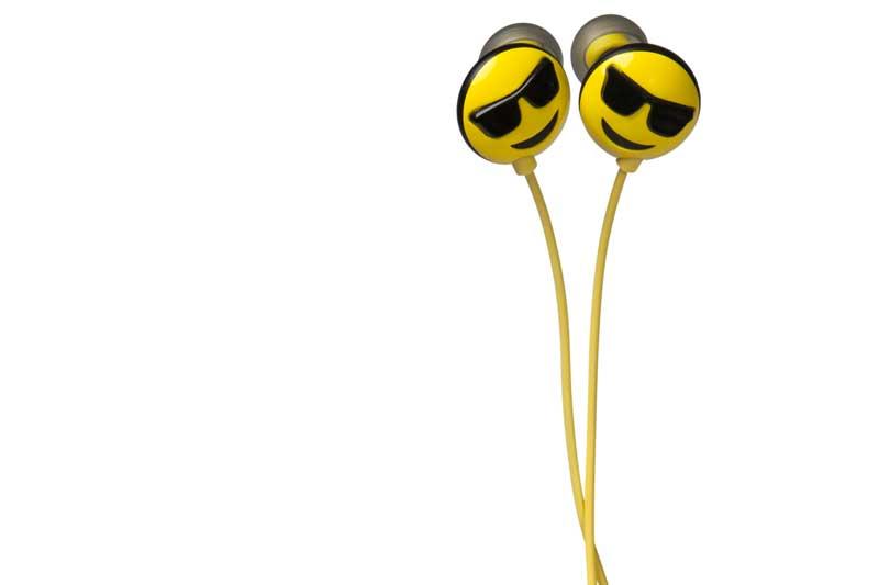 HMDX JAM Jamoji 2 Cool Headphones - Kabelgebundener In-Ear Kopfhörer mit lustigem Emoticon Design