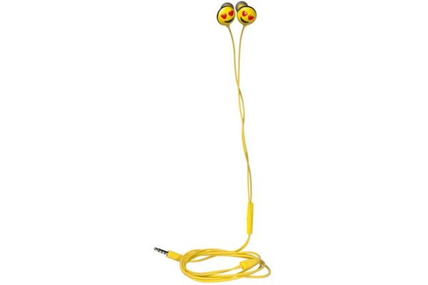 HMDX JAM Jamoji Love Struck Headphones - Kabelgebundener In-Ear Kopfhörer mit lustigem Emoticon Design