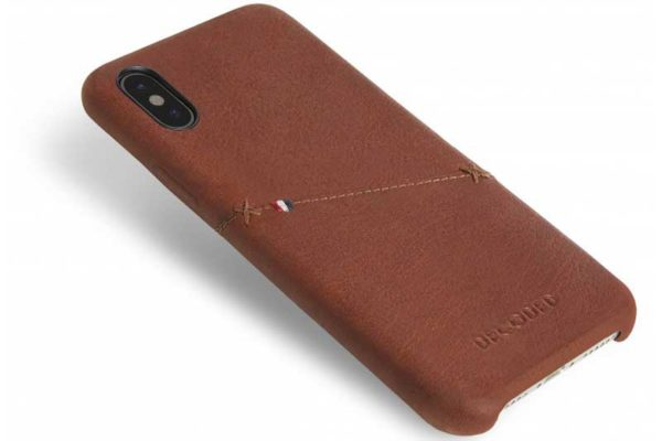 Decoded iPhone X Premium Leder Backcover / Case / Rückseitenschutz mit Kreditkartenfach, braun