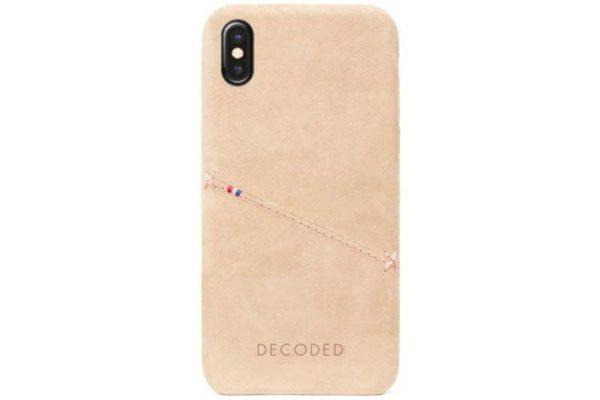 Decoded iPhone X-Xs Premium Leder Backcover / Case / Rückseitenschutz mit Kreditkartenfach, hellbraun
