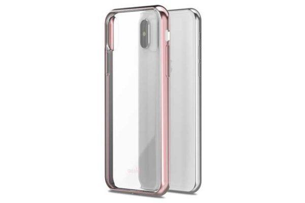 Moshi Vitros iPhone X - dünnes transparentes Case / Backcover, Orchid Pink