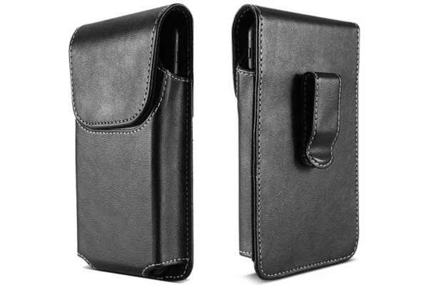 Bridge94 iPhone 6/6S/7/8 Gürtelholster-Tasche vertikal mit Gürtelklemme, schwarz