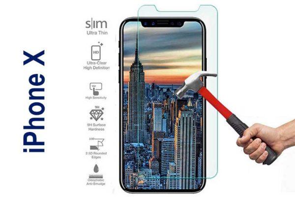 Bridge94 iPhone X Bildschirm-/Display-Schutzglas gehärtet