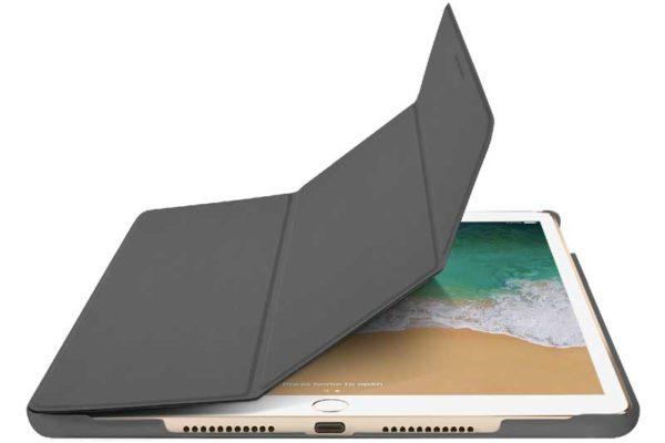 """Macally Bookstand iPad Pro 10.5"""" - Hochwertige Schutzhülle mit Stand- und Sleep-/Wake-Funktion, grau"""