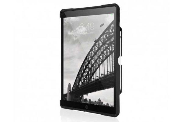 """STM Dux Shell iPad Pro 10.5"""" - Edles Transparentes Case mit Abteil für das Apple Pencil, schwarz-transparent"""