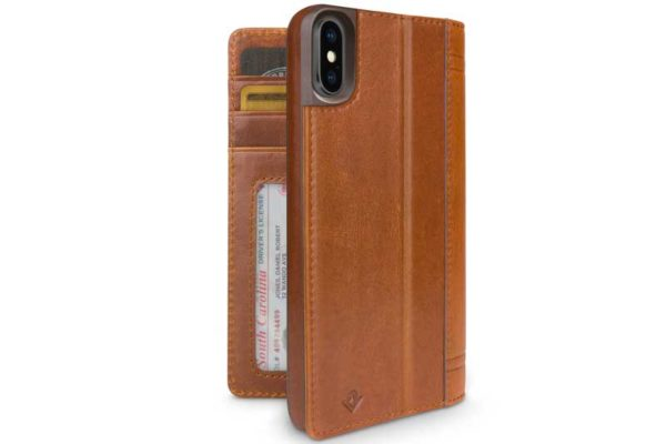 Twelve South Journal Case iPhone X - Xs - Hochwertiges Hardcase aus echtem Leder, braun