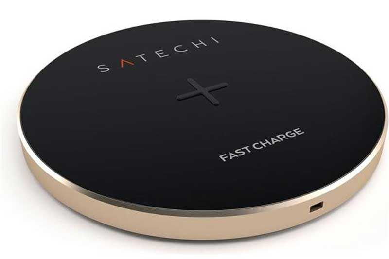 satechi wireless qi charging pad qi ladepad mit led. Black Bedroom Furniture Sets. Home Design Ideas