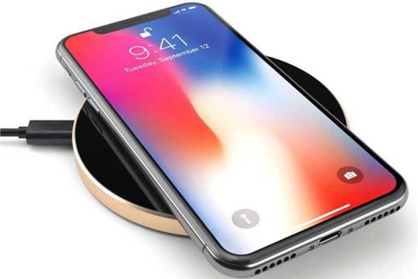 Satechi Wireless Qi Charging Pad - Qi Ladepad mit LED Ladeanzeige für kabelloses Aufladen aller Qi-kompatiblen iPhones/Smartphones, gold
