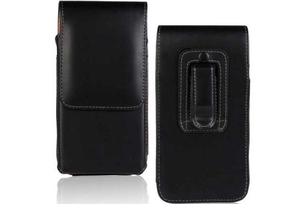 Bridge94 iPhone 6/7/8 Plus Gürtel-Holster-Tasche vertikal, schwarz glatt