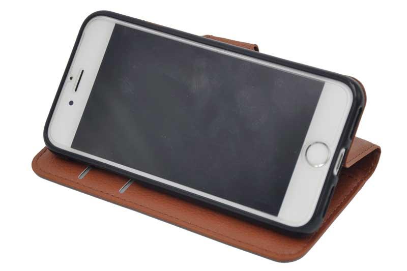 bridge iphone 7 8 pu leder etui case h lle braun handy. Black Bedroom Furniture Sets. Home Design Ideas