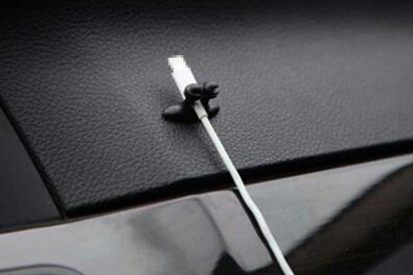 Bridge94 Kabelhalter schwarz, 8 Stück