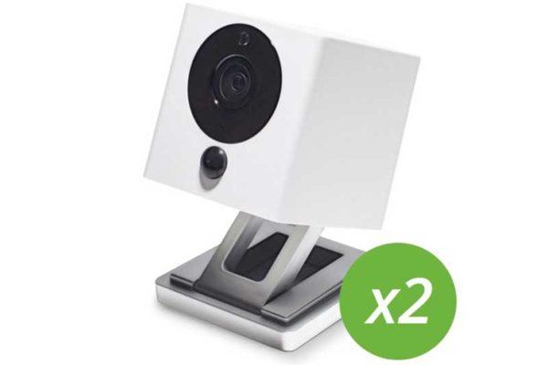 iSmartAlarm Kamera SPOT+ 2er-Pack - WiFi Überwachungskamera, Remote steuerbar, mit Nachtsichtfunktion & HD Auflösung, weiss