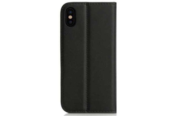 Mobiletto iPhone X PREMIUM Bookcase mit Magnetclip, schwarz