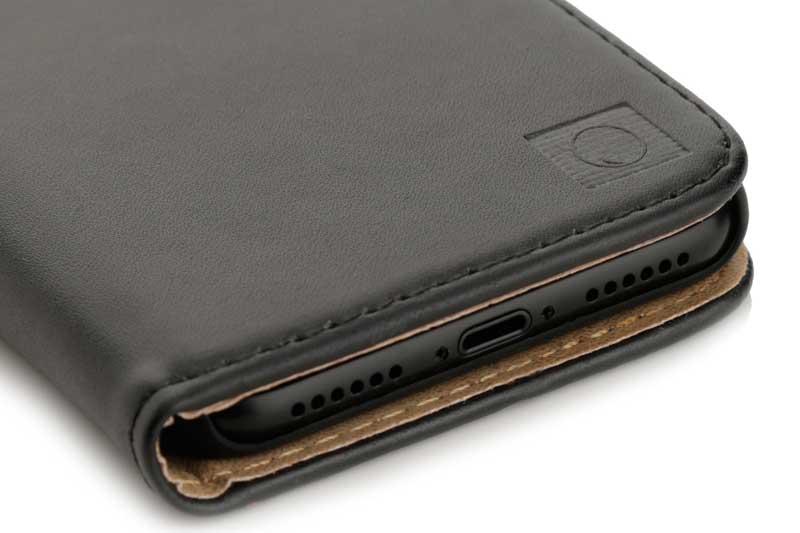 Mobiletto Iphone X Xs Premium Bookcase Mit Magnetclip Schwarz