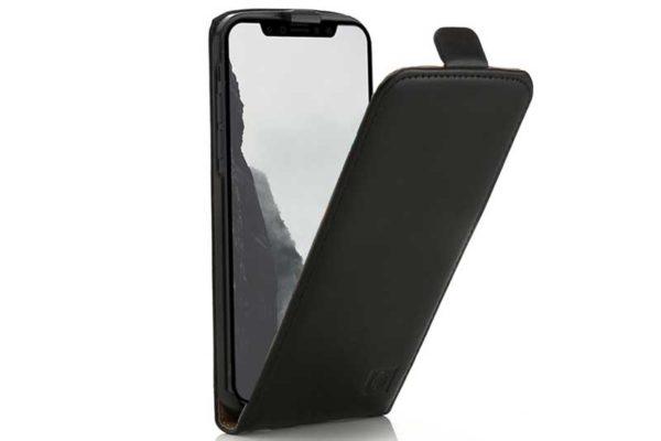Mobiletto iPhone X-Xr-Xs Max PREMIUM Flipcase Schutzhülle, schwarz