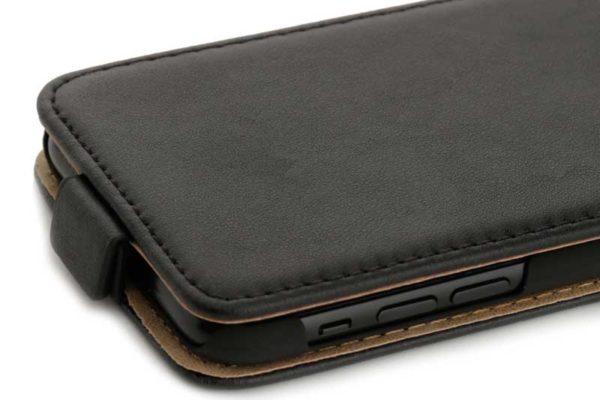 Mobiletto iPhone X PREMIUM Flipcase Schutzhülle, schwarz
