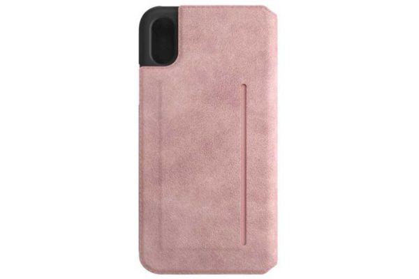 Bugatti Book-Cover iPhone X Parigi Ultrasuede, rosa