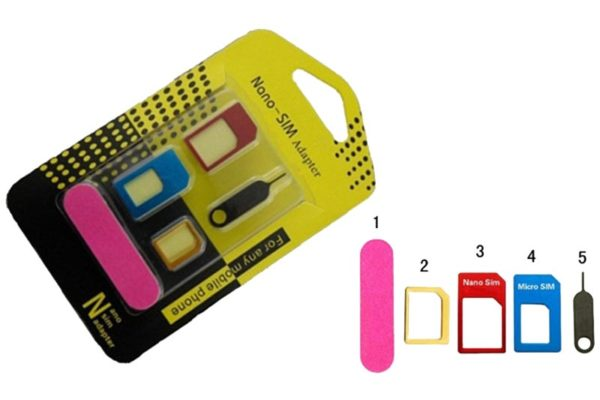Bridge94 Nano-SIM Adapter, 5-teilig