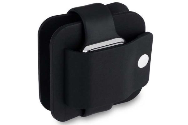 Bridge94 Apple Watch Schutzcase mit Ladestation, schwarz