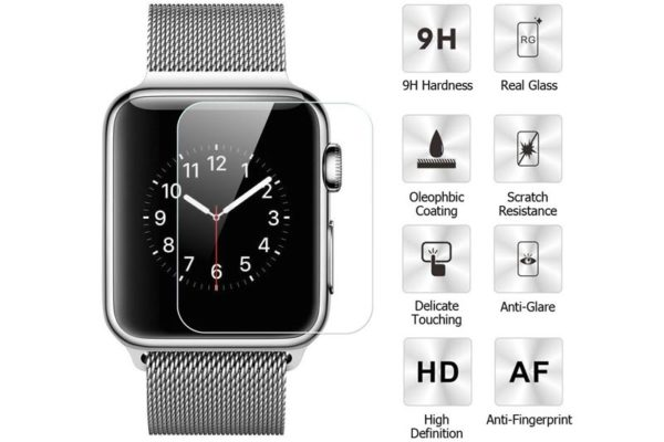 Bridge94 Apple Watch Serie 3 Tempered Glass Screen Protector - Display-Schutzglas, 42 mm