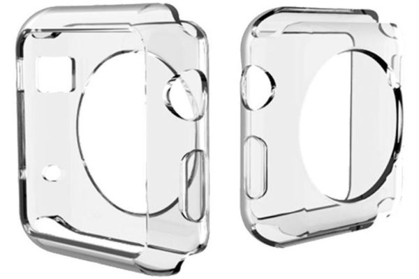 Bridge94 Apple Watch Serie 3 TPU Schutz-Etui - Case transparent, 42 mm