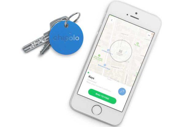 Chipolo Classic 2nd Generation- Keyfinder mit wechselbarer Batterie, Bluetooth & Social GPS für alle iOS Geräte & Smartphones, blau
