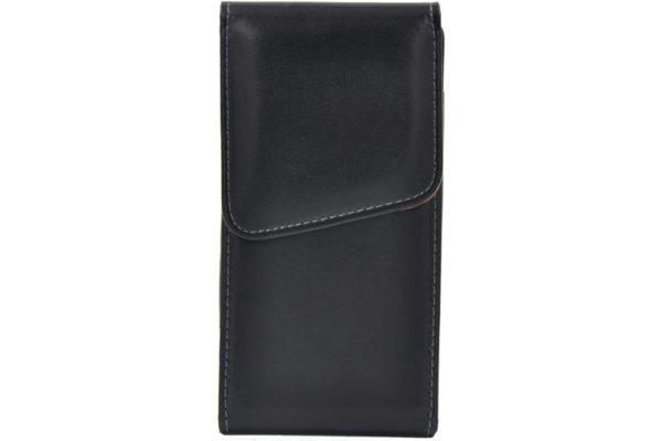 Bridge94 iPhone 6/7/8 Plus Gürtelholstertasche vertikal mit Gürtel-Klemme, schwarz glatt