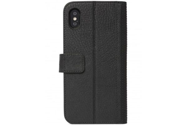 Decoded iPhone X Premium Leder Wallet mit herausnehmbarem Backcover, schwarz