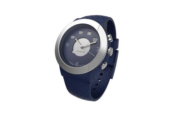 Cogito-Fit-Clevere-wasserdichte-Bluetooth-4.0-SmartWatch-Benachrichtungen-iPhone-Finder-Fernbedienungsfunktionen-Smartphones-Blau-Silber