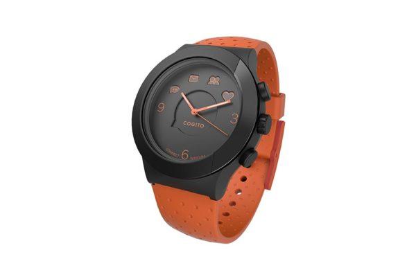 Cogito-Fit-Clevere-wasserdichte-Bluetooth-4.0-SmartWatch-Benachrichtungen-iPhone-Finder-Fernbedienungsfunktionen-Smartphones-Orange-Schwarz