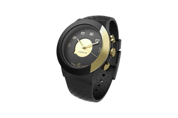 Cogito-Fit-Clevere-wasserdichte-Bluetooth-4.0-SmartWatch-Benachrichtungen-iPhone-Finder-Fernbedienungsfunktionen-Smartphones-Schwarz-Gold