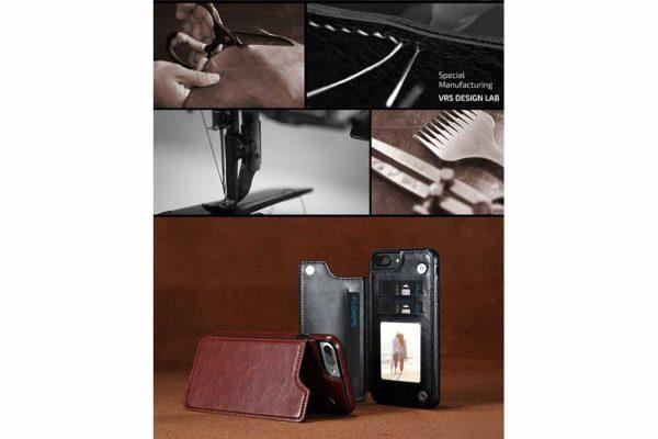 Bridge94-Retro-PU-Leder-Case-Huelle-Kartenhalter-Abdeckung-iPhone-X-6-s-7-8-Plus-XS-XR-5