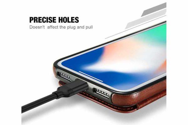Bridge94-Retro-PU-Leder-Case-Huelle-Kartenhalter-Abdeckung-iPhone-X-6-s-7-8-Plus-XS-XR-8
