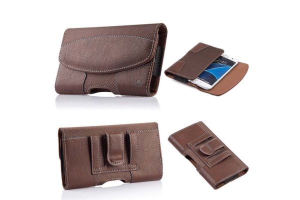 Bridge94-iPhone-6-6S-7-8-Plus-Gürtelholster-tasche-horizontal-strukturiert
