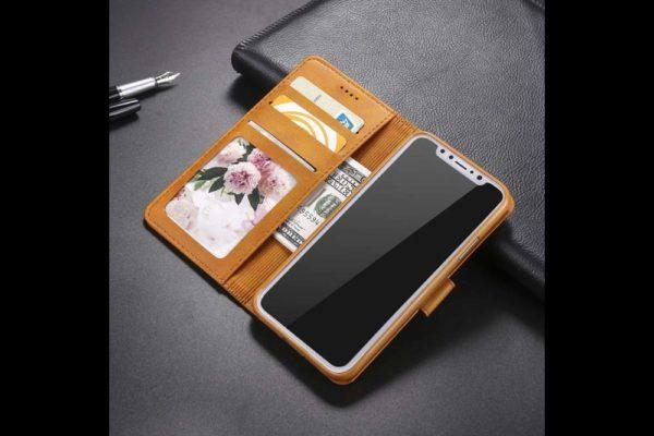 Bridge94-iPhone-Xs-Max-Flip-Leder-Etui-Magnetverschluss-Kreditkartenfaecher-Standfunktion-hellbraun-8