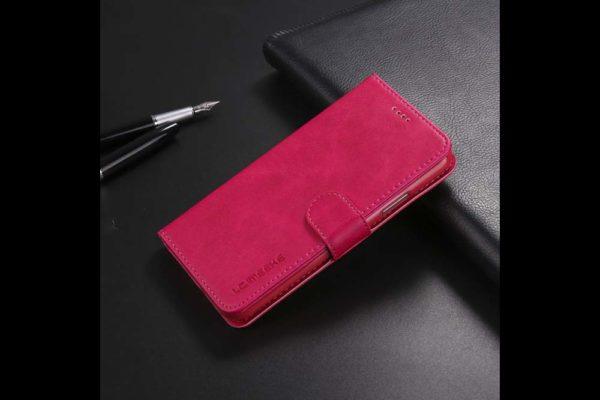 Bridge94-iPhone-Xs-Max-Flip-Leder-Etui-Magnetverschluss-Kreditkartenfaecher-Standfunktion-rot