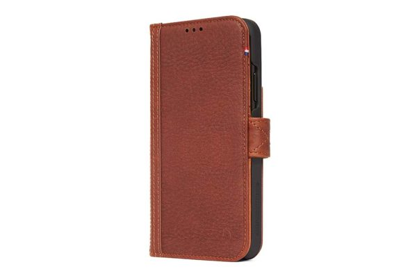 Decoded-Leather-Card-Wallet-Tasche-Leder-iPhone-XR-Drop-Safe-Military-Standard-elastischem-Verschluss-Backcover-Karten-Cinnamon-Brown