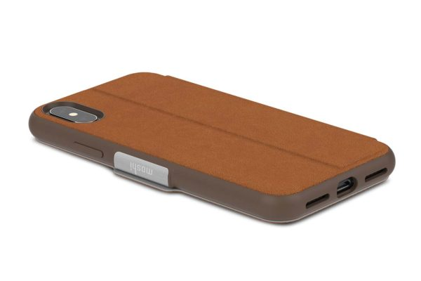 Moshi-SenseCover-Folio-Sichtfenster-Magnetverschluss-Folie-Display-iPhone-X-Xs-Caramel-brown-3