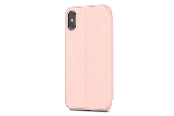 Moshi-SenseCover-Folio-Sichtfenster-Magnetverschluss-Folie-Display-iPhone-X-Xs-Luna-Pink-2