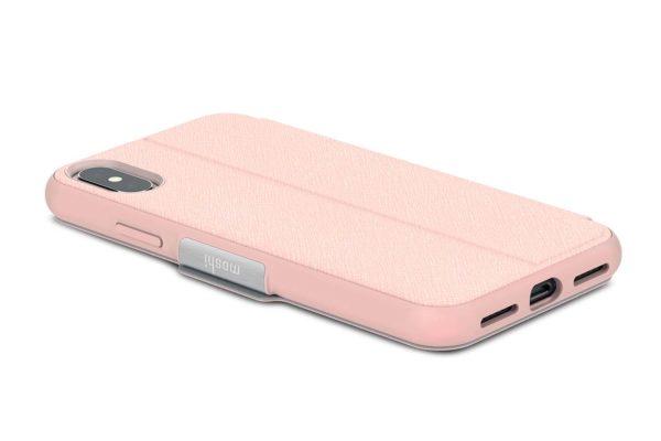 Moshi-SenseCover-Folio-Sichtfenster-Magnetverschluss-Folie-Display-iPhone-X-Xs-Luna-Pink-3