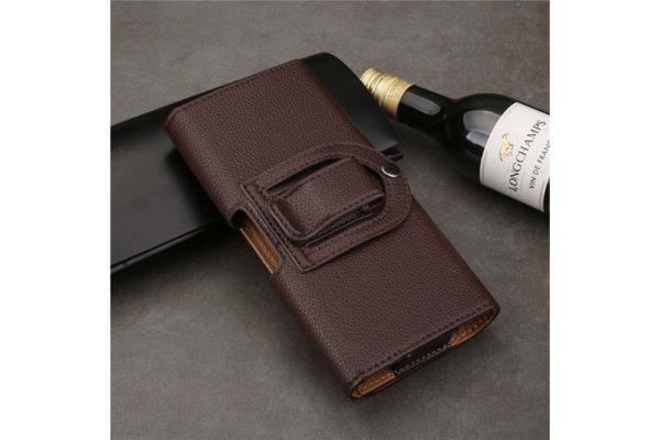 Bridge94-iPhone-6-6S-7-8-Gürtelholster-Tasche-quer-braun-strukturiert-2